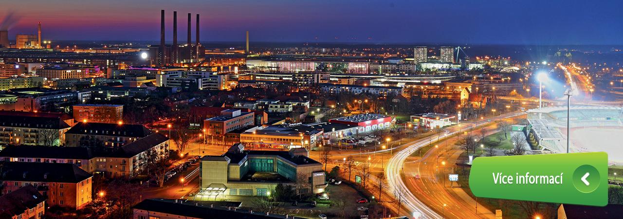 Night view of city stream.